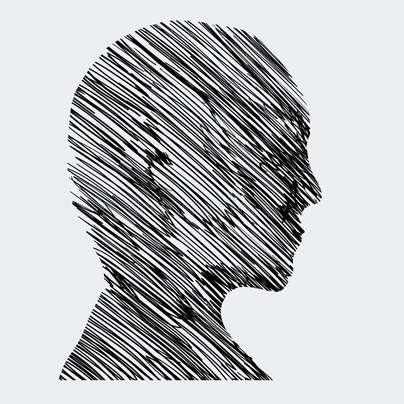 Perfil humano stock de ilustración