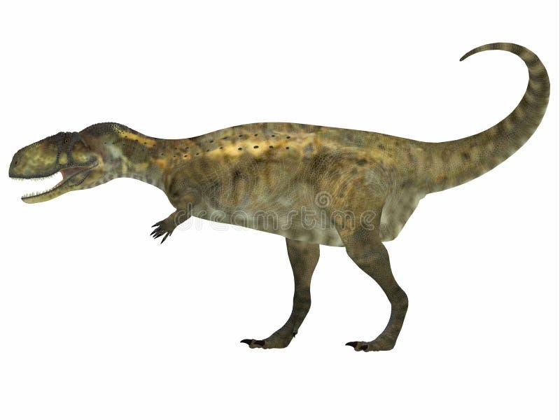 Perfil lateral do Abelisaurus ilustração stock