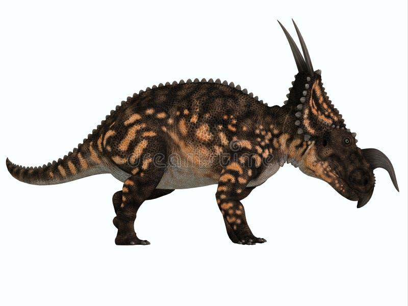 Perfil lateral do Einiosaurus ilustração do vetor