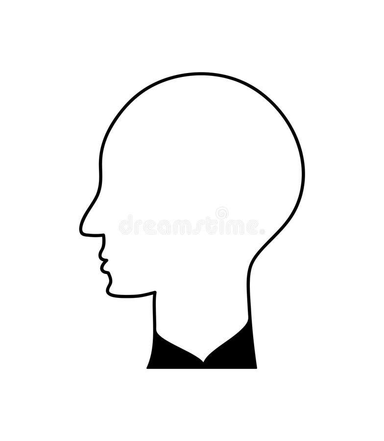 Perfil principal de un hombre r ilustración del vector