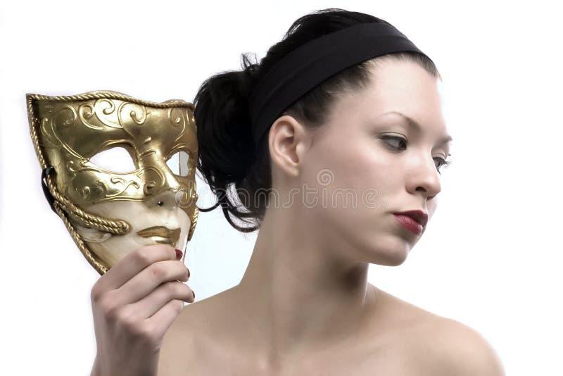 Perfil y máscara fotografía de archivo