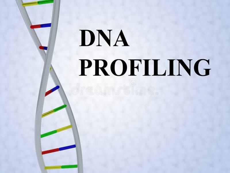 Perfilamento do ADN - conceito genético ilustração stock