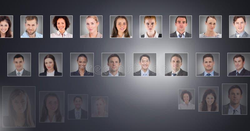 perfiles del retrato de diversa gente fotos de archivo libres de regalías