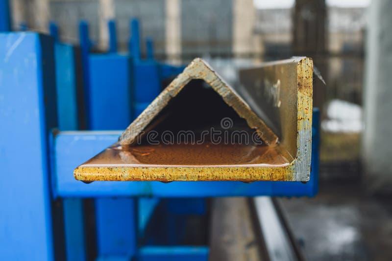Perfis de aço fotografia de stock