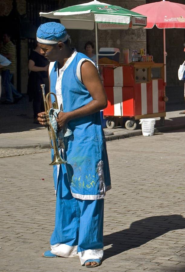 Perfomer de la calle, La Habana, Cuba imagen de archivo