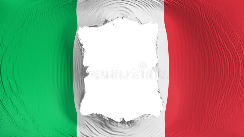 Perforación rectangular en la bandera de Italia libre illustration