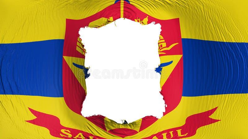 Perforación rectangular en la bandera del capital de Saint Paul libre illustration