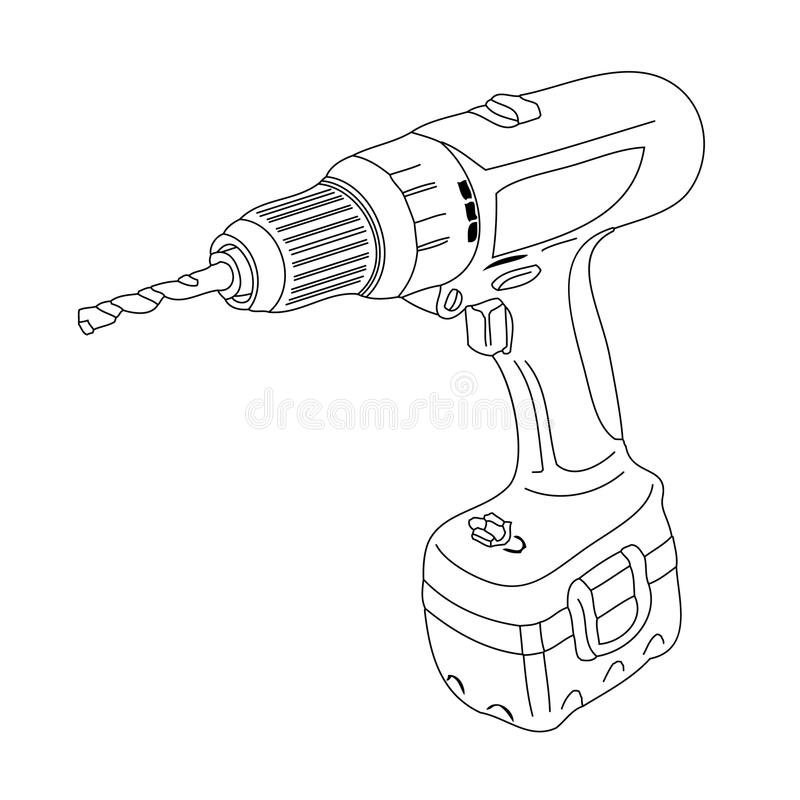 Perforadora stock de ilustración