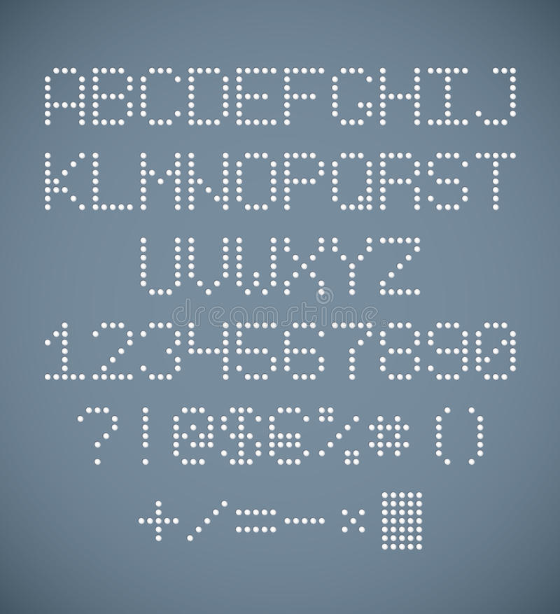 perforated alphabet stock vector image of paper With perforated letters