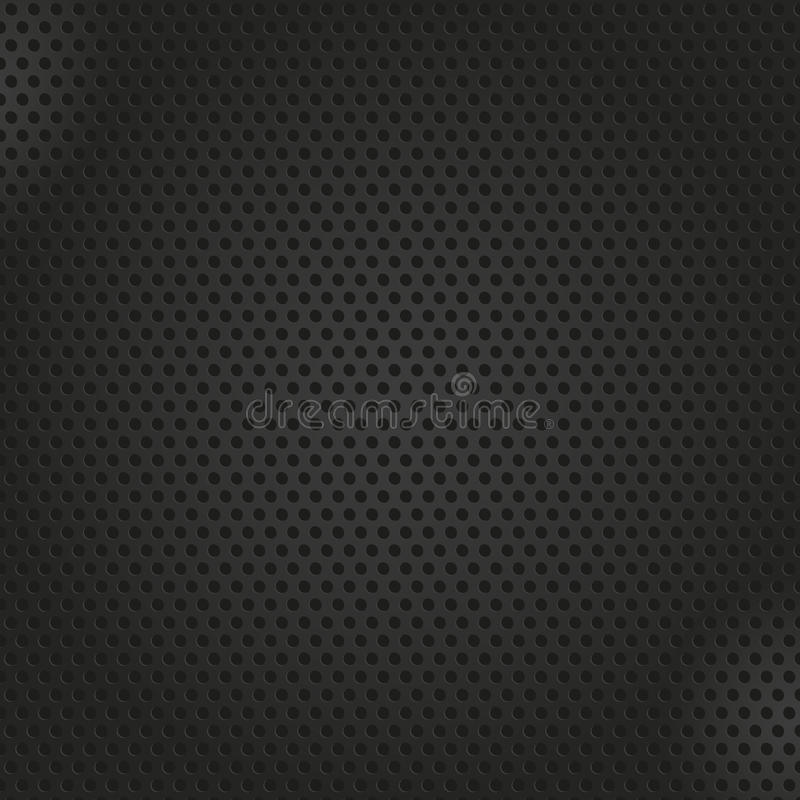 Perforated metal background stock illustration