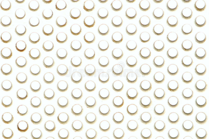 Perforated stainless steel with light ahead and be stock images