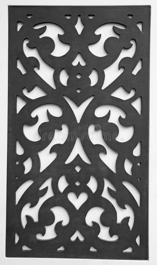 Perforated wooden or carved wooden royalty free stock photos