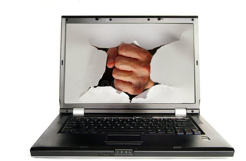 Perforateur d'écran photo libre de droits