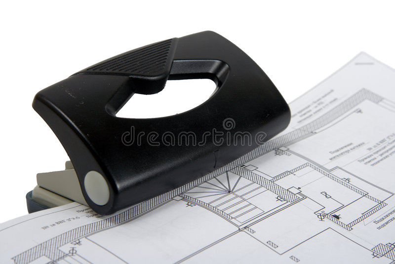 Perforateur de bureau photos stock
