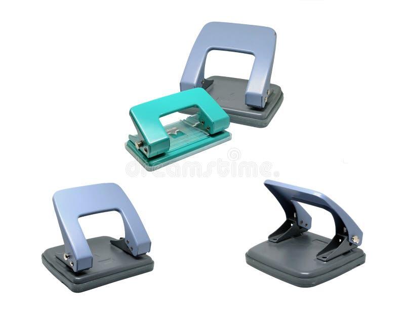 Perforateur de trou de papier de bureau image libre de droits