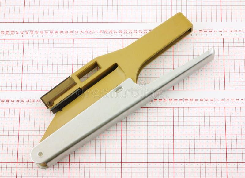 Perforateur diagonal de vue image libre de droits