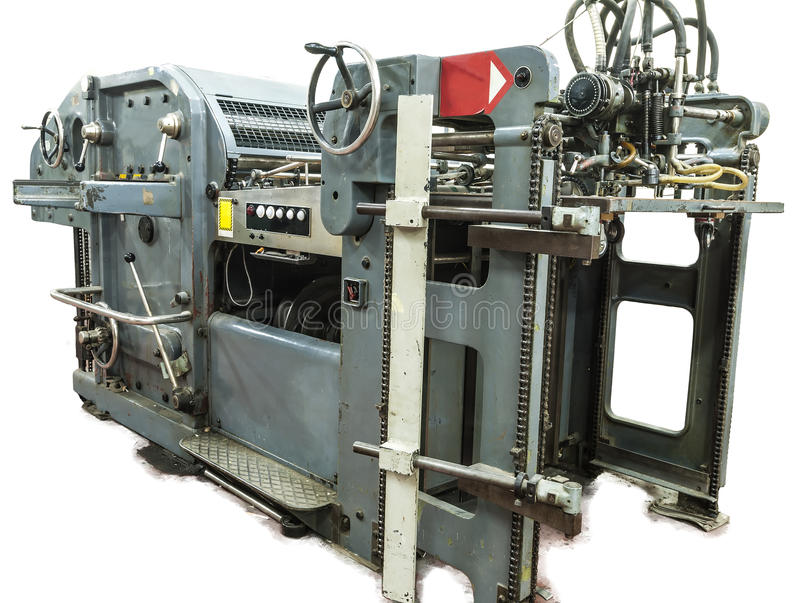 Perforation machine and print cards royalty free stock photos