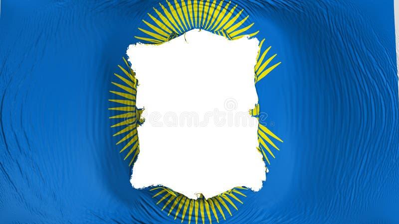 Perforation rectangulaire dans le Commonwealth du drapeau de nations illustration de vecteur