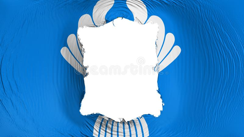 Perforation rectangulaire dans le drapeau CIS illustration stock
