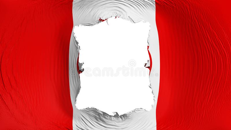 Perforation rectangulaire dans le drapeau de KKK illustration de vecteur