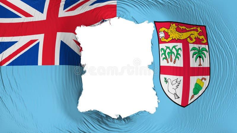 Perforation rectangulaire dans le drapeau des Fidji illustration stock