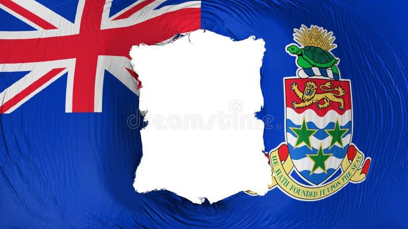 Perforation rectangulaire dans le drapeau xxx illustration libre de droits