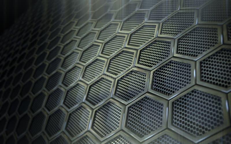 Perfored Stahlhintergrund stock abbildung
