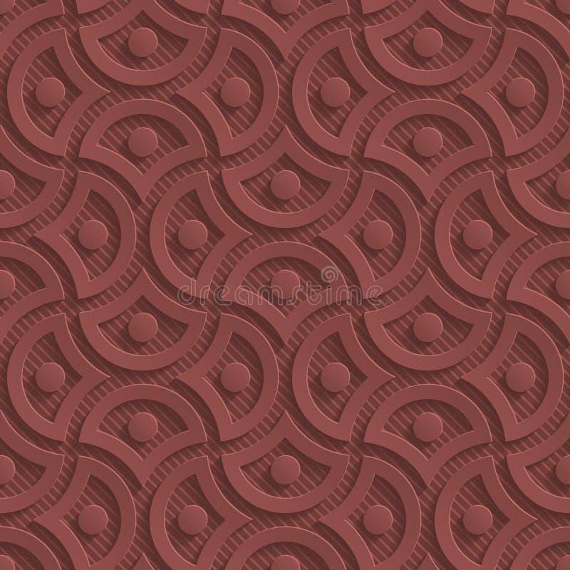 Perforerat papper för marsala färg vektor illustrationer