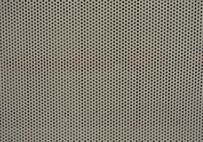 Perforiertes Blatt des Metalls lizenzfreie stockfotografie