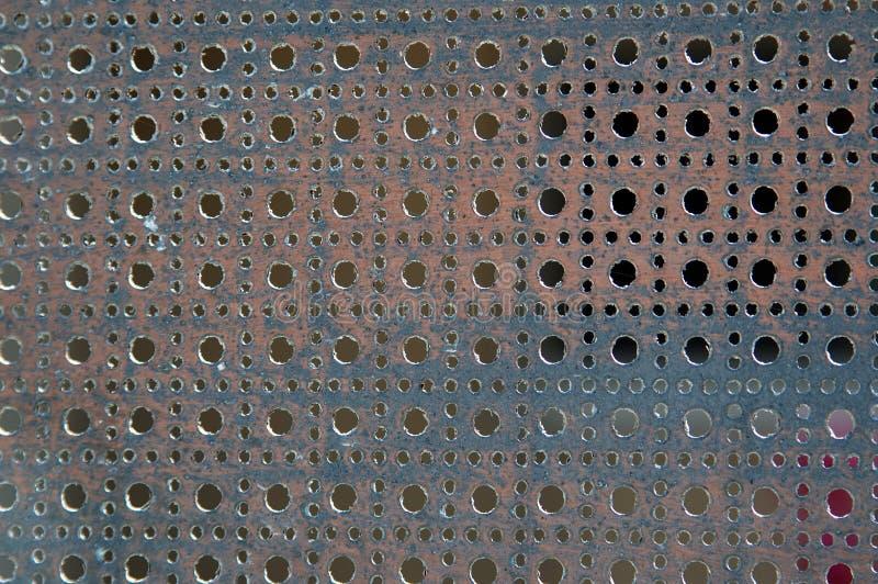 Perforiertes Metall lizenzfreie stockfotografie
