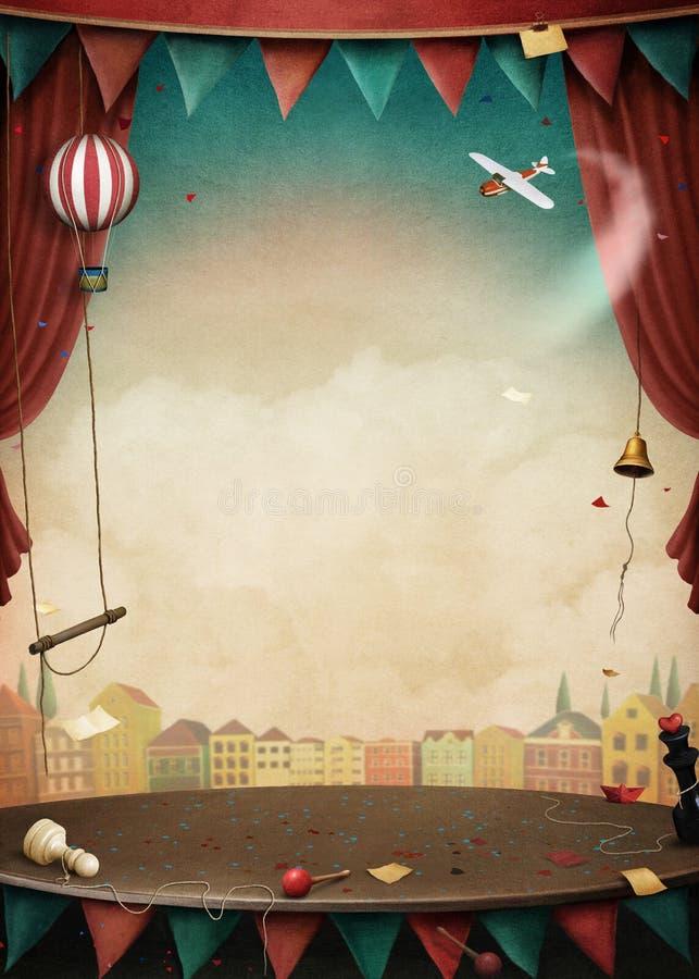 Performance background vector illustration