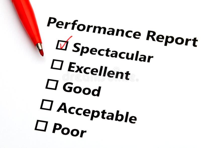 Performance-Bericht stockbild