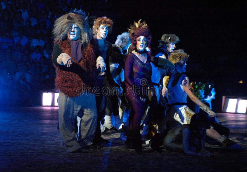 Cats The Musical. Performance of the Cats musical from Andrew Lloyd Webber royalty free stock image