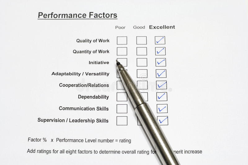 Performance Evaluation Form Stock Photo  Image Of Bonus Resources