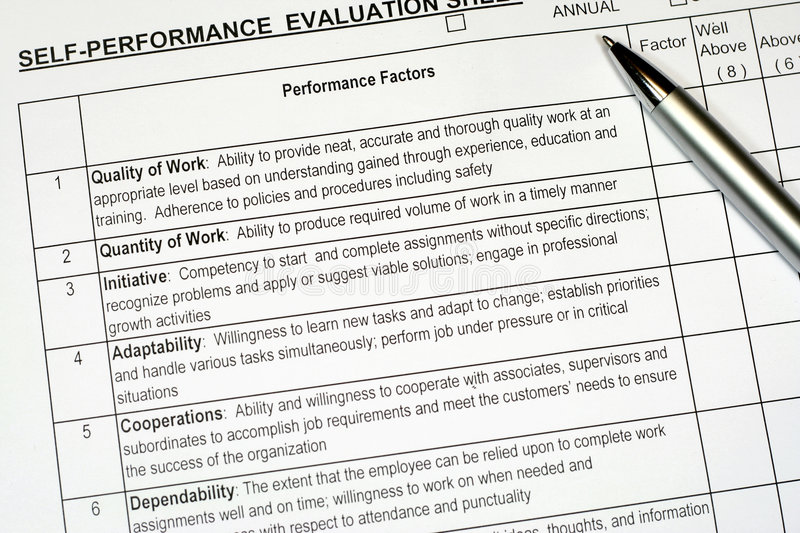 Performance Evaluation Report Stock Photography - Image: 3755682
