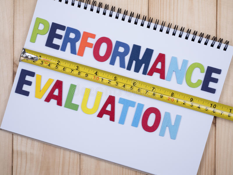 Performance evaluation 1 royalty free stock images