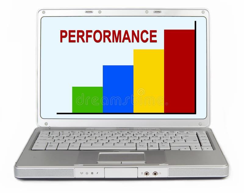 Performance graph laptop stock photos