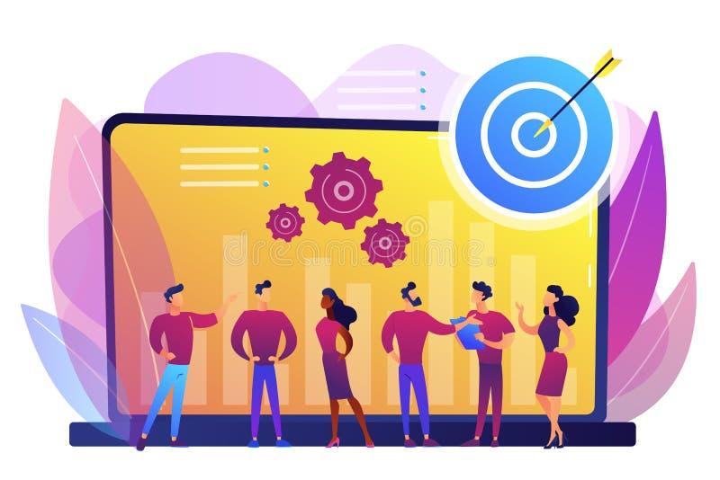 Performance management concept vector illustration. stock illustration