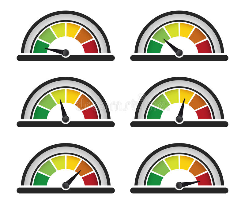 Performance meter stock illustration