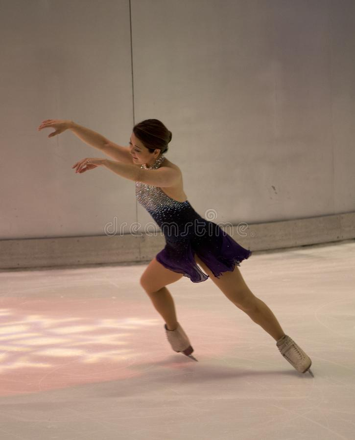 Performance olympique de patinage artistique de YuKa SaTo du champion 1994 photographie stock libre de droits