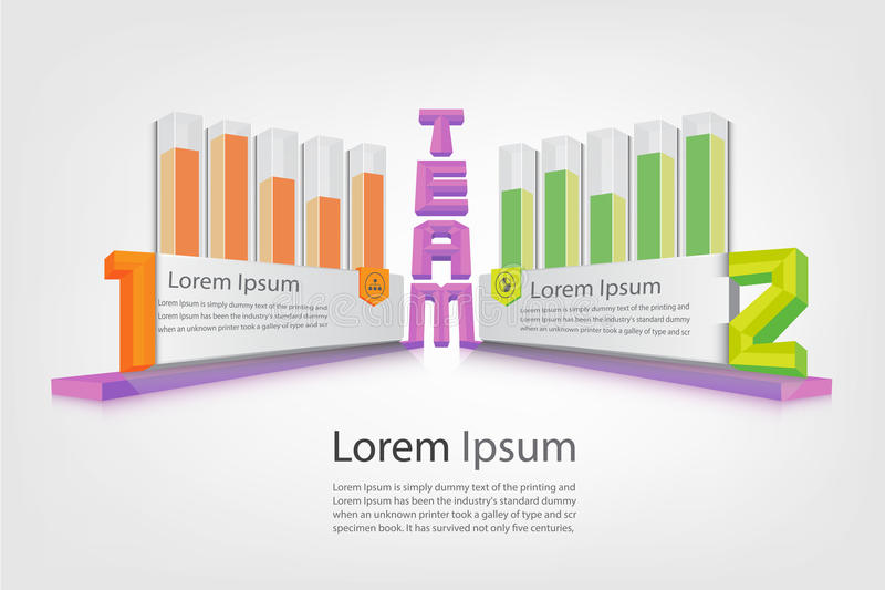 Performance report and business presentation infographic vector eps10. Performance report and business presentation displaying by 3d crystal bar graph vector vector illustration