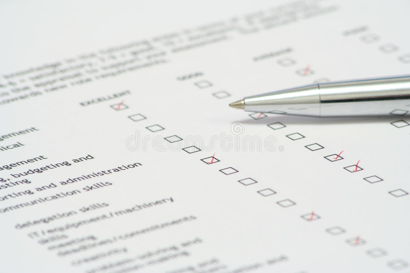 Performance Review royalty free stock images