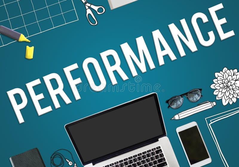 Performance Skills Talent Business Concept royalty free illustration