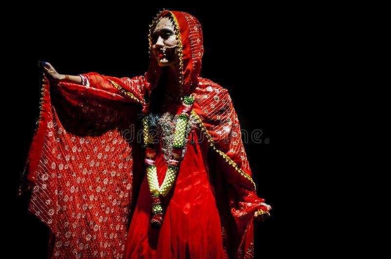 Performance on stage in dark studio royalty free stock photos
