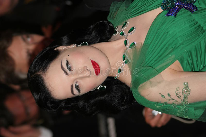 Download Performer Dita Von Teese editorial stock photo. Image of premiere - 12842048