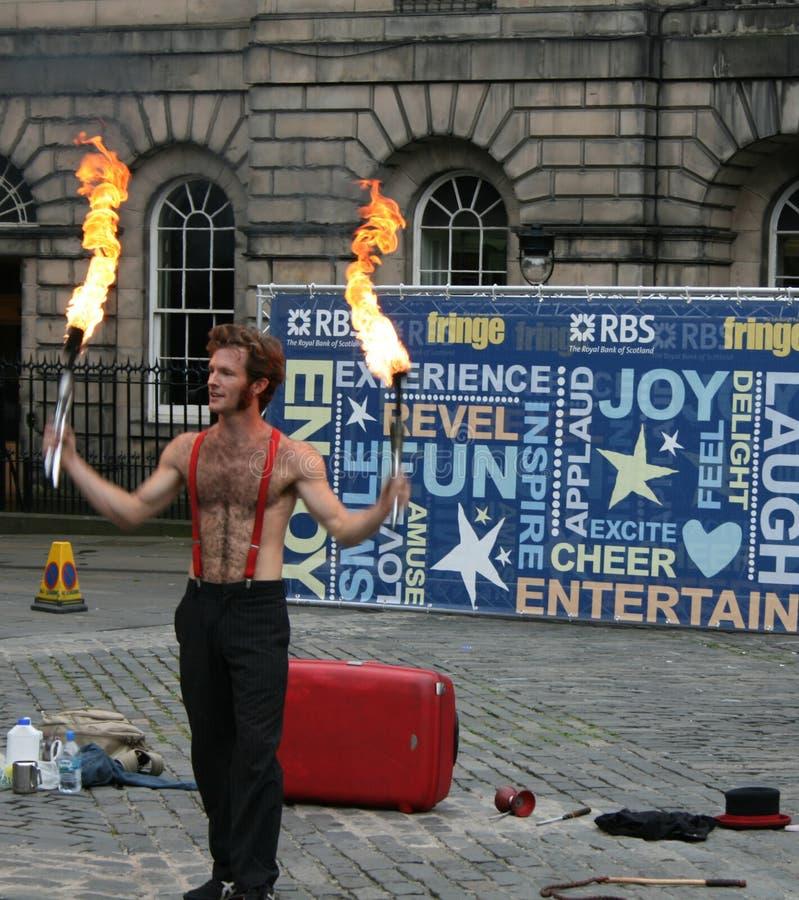 Performer at Edinburgh Festival royalty free stock photography