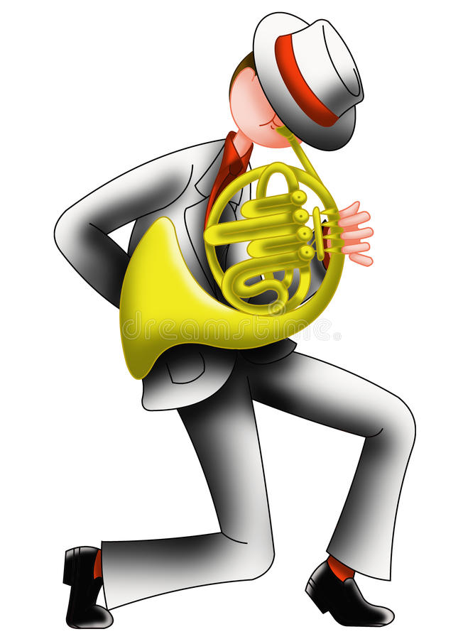 Performer of horn royalty free stock images
