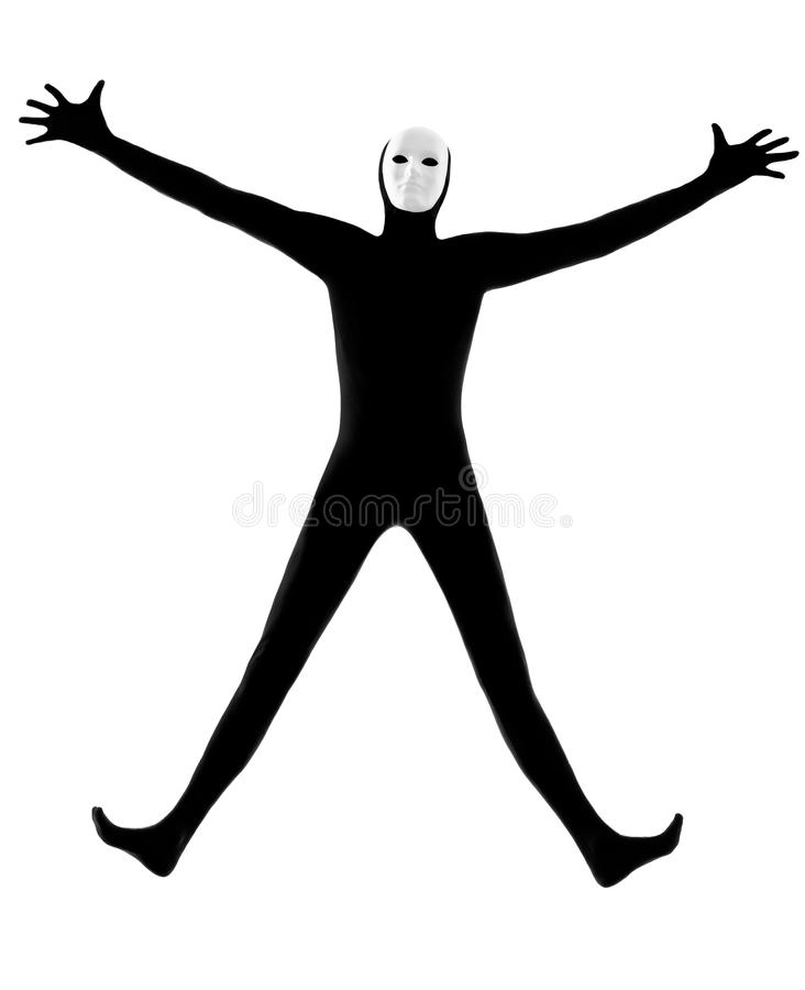 Download Performer Mime With Mask Happy Saluting Stock Image - Image: 26424601