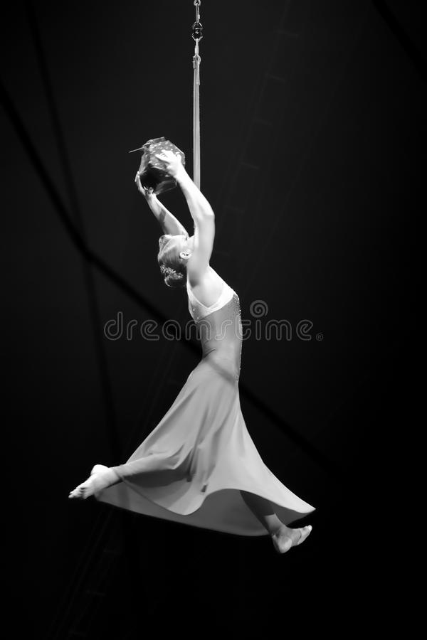 Performer at the Moscow State Circus royalty free stock images