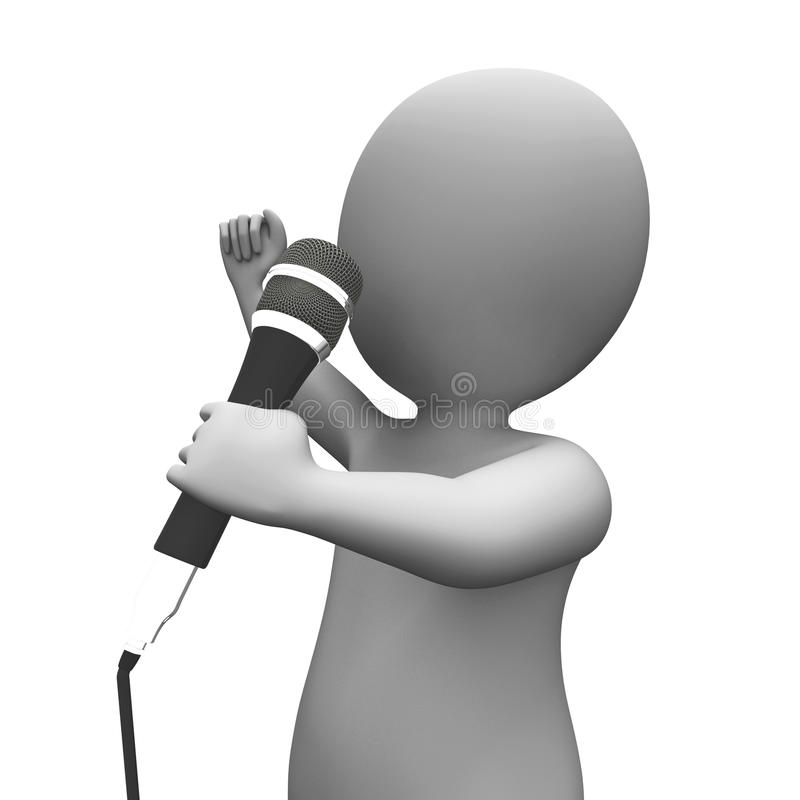 Download Performer Singing Shows Songs Or Music Talent Concert Stock Illustration - Image: 34214803